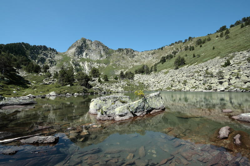 Camisette lake in Pyrenees royalty free stock images