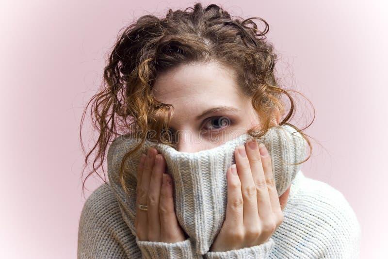 Camisola acolhedor do inverno foto de stock