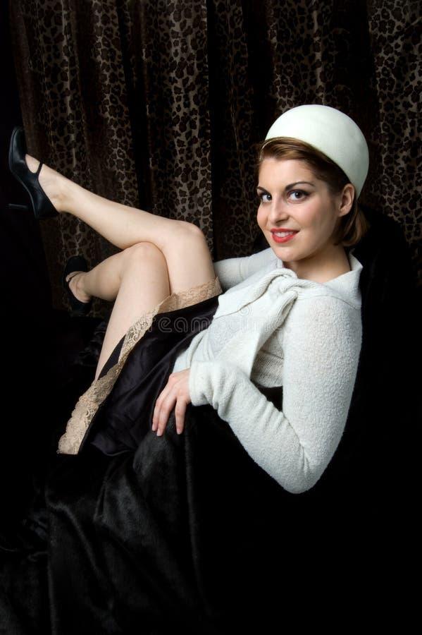 Camisola do inverno de Courtney fotos de stock royalty free