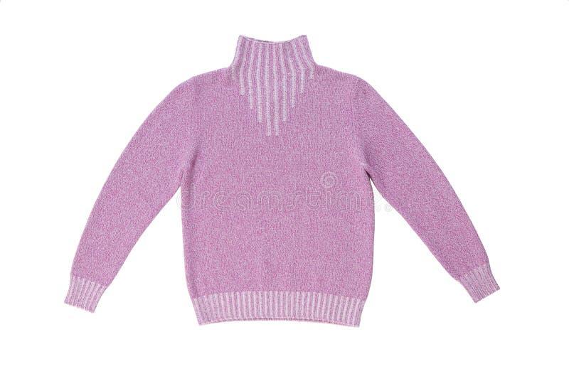 Camisola feita malha Lilac. imagens de stock royalty free