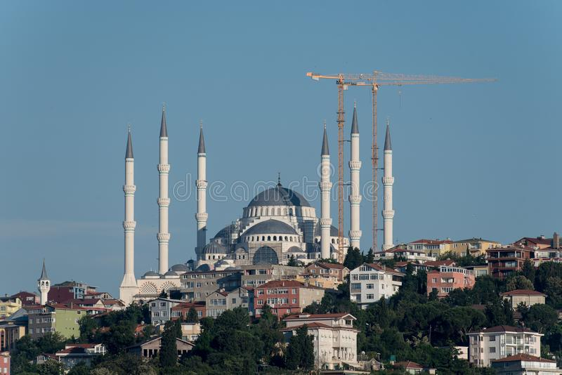 Camlica清真寺在伊斯坦布尔 库存照片