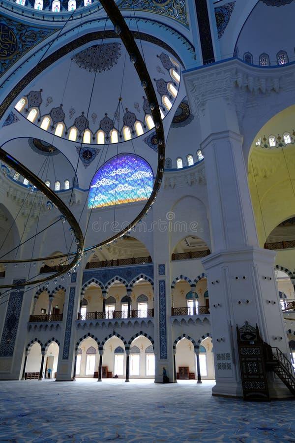 Camlica清真寺Camlica清真寺的内部 库存图片