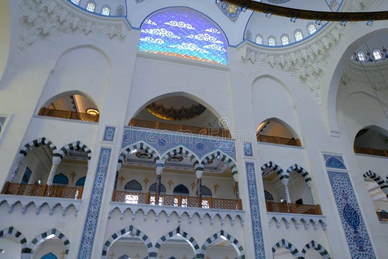 Camlica清真寺Camlica清真寺的内部 免版税库存照片