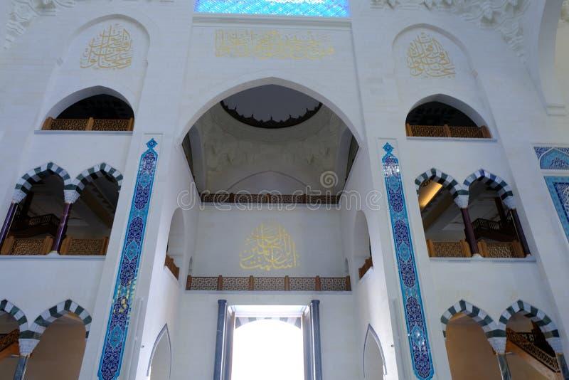 Camlica清真寺Camlica清真寺的内部 库存照片