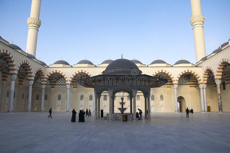 Camlica-Moschee hat die Unterscheidung des Seins die größte Moschee in der Türkei Foto am 29. März 2019 gemacht, Istanbul, die Tü stockfotos