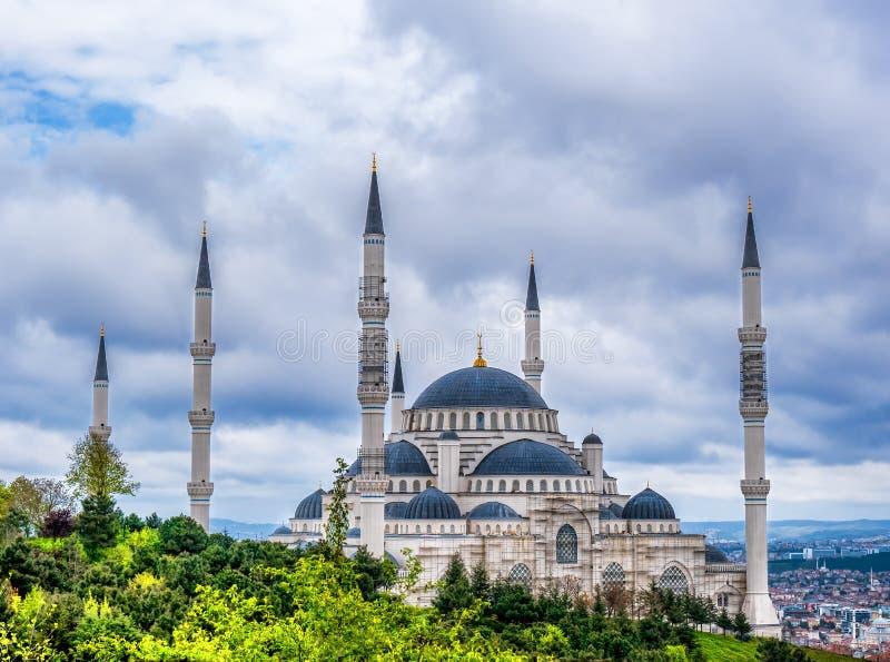 Camlica Mosque Camlica Tepesi Camii royalty free stock photography