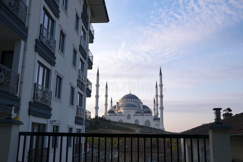 Camlica Mosque from different angles. Photo taken on 29th March 2019, Ä°stanbul, Turkey.  royalty free stock photo