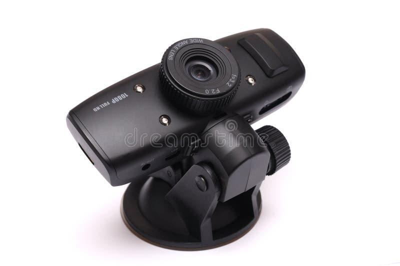 Camma anteriore o posteriore di un'automobile nera dell'automobile video del un poco immagine stock libera da diritti