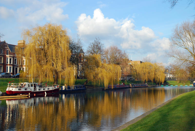 Camma del fiume a Cambridge, Regno Unito immagini stock