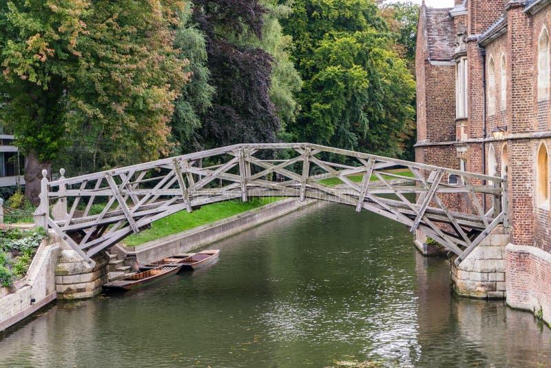 Camma del fiume, istituto universitario del Queens, Cambridge immagini stock