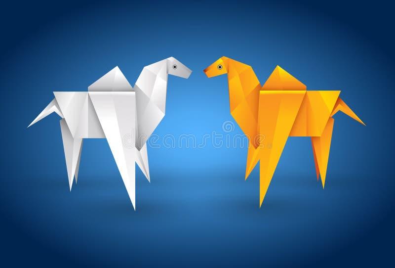 Cammello delle coppie di Origami royalty illustrazione gratis