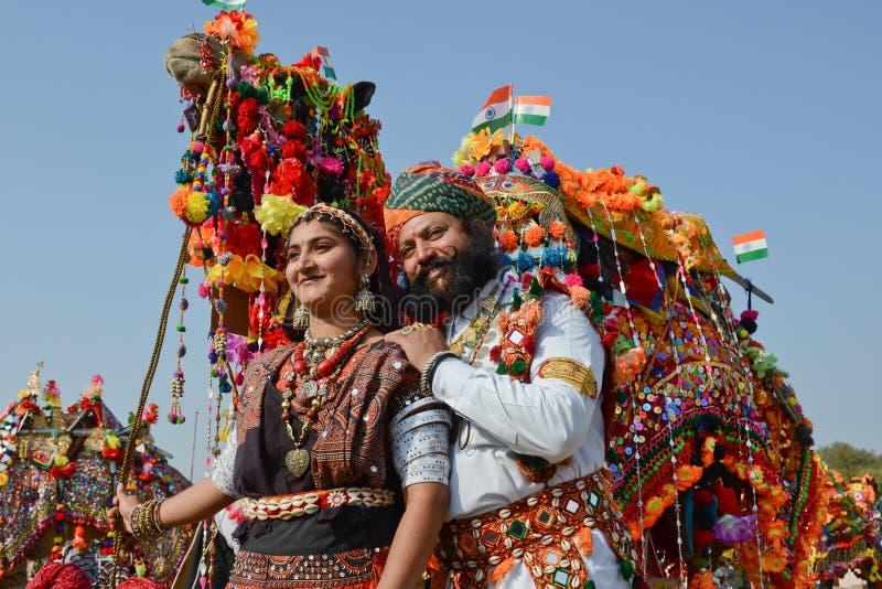 Cammello giusto in Bikaner, India fotografia stock libera da diritti