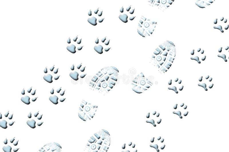 Camminando con gli animali royalty illustrazione gratis