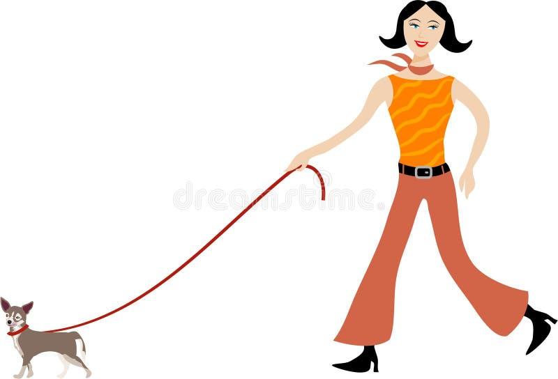 Camminando il cane illustrazione di stock