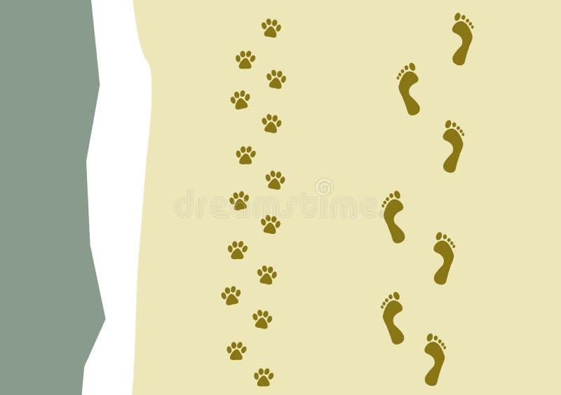 Camminando il reticolo del cane illustrazione di stock