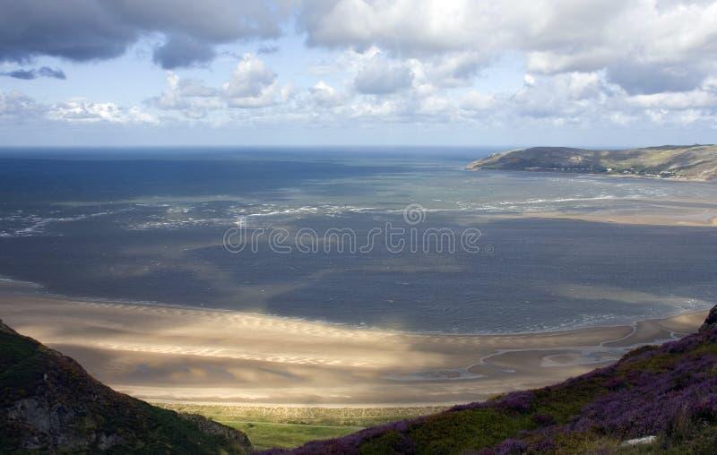 Camminando intorno a Conwy ed alla sua montagna fotografie stock