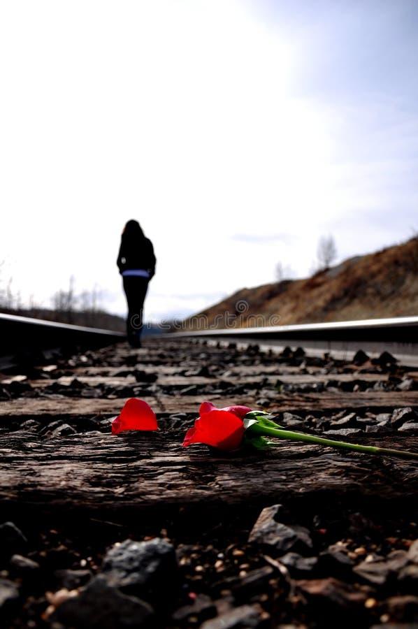Camminando a partire dall'amore immagini stock libere da diritti