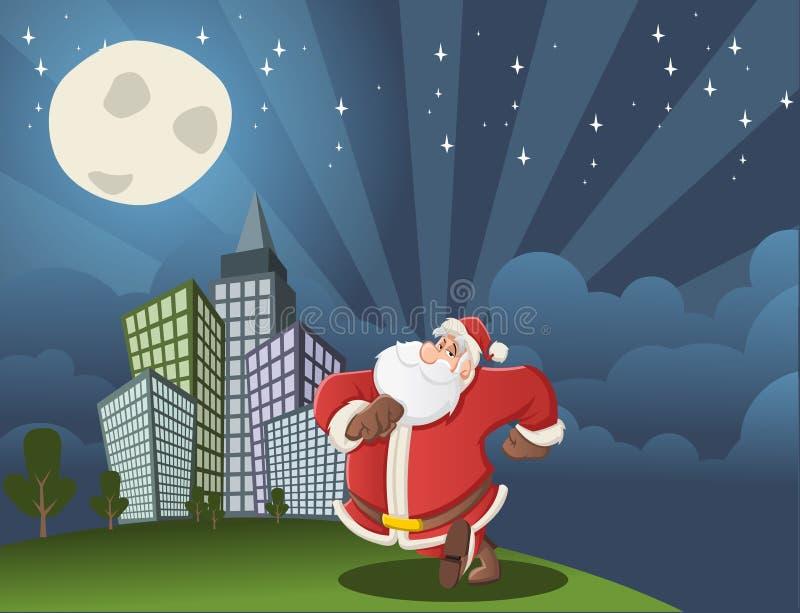 Camminare del Babbo Natale royalty illustrazione gratis