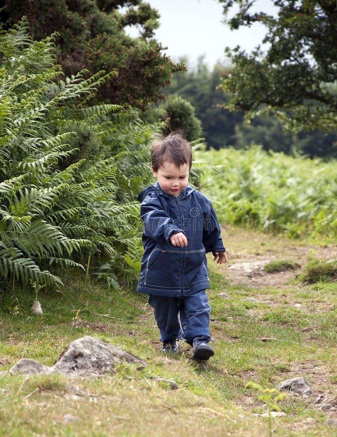 Camminare del bambino fotografie stock