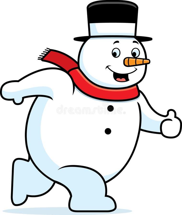 Camminare del pupazzo di neve illustrazione vettoriale