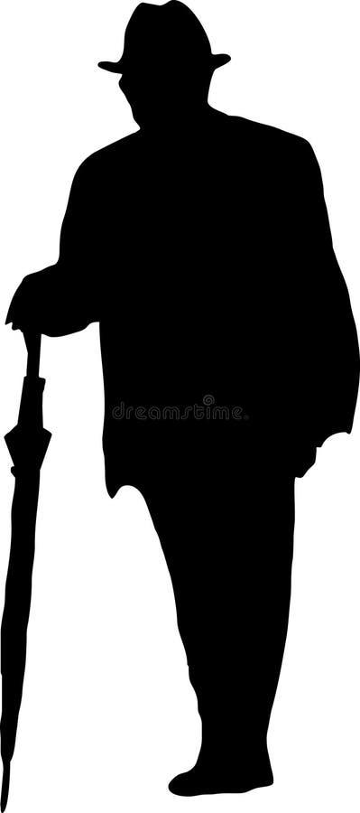 Camminare dell'uomo anziano royalty illustrazione gratis