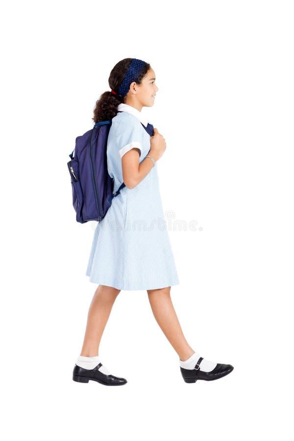 Camminare della scolara fotografia stock