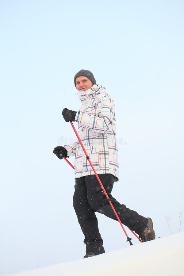 Camminare nordico immagine stock