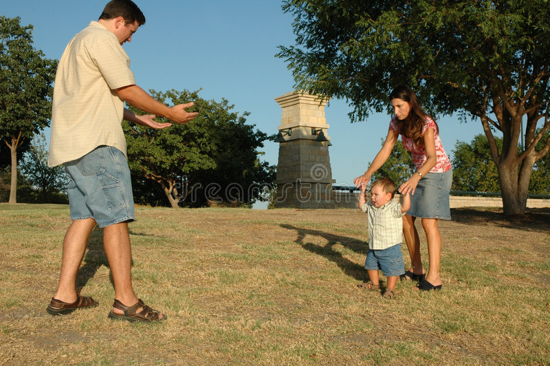 Camminata al daddy fotografia stock