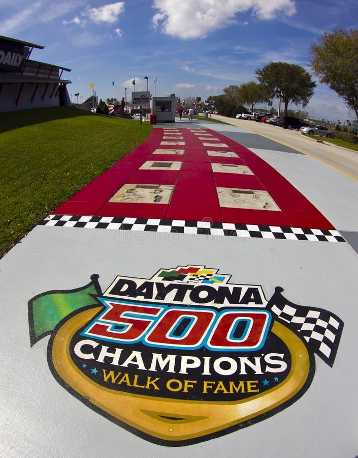 Camminata dei campioni di Daytona 500 di fama immagini stock libere da diritti