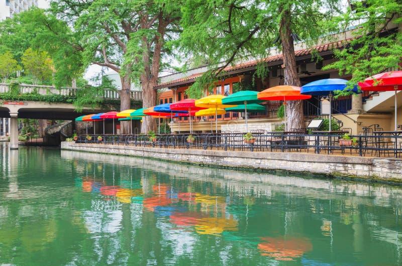 Camminata del fiume a San Antonio fotografie stock libere da diritti