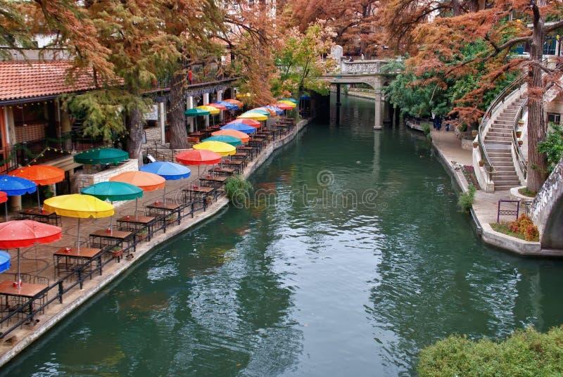 Camminata del fiume a San Antonio il Texas fotografia stock