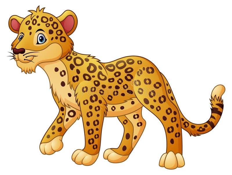 Camminata del leopardo del fumetto illustrazione vettoriale