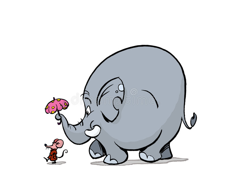 Camminata dell'elefante illustrazione vettoriale