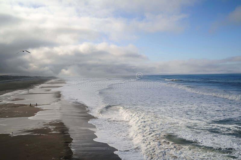 Camminata dell'oceano fotografia stock