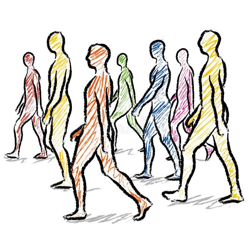 Camminata della gente illustrazione vettoriale