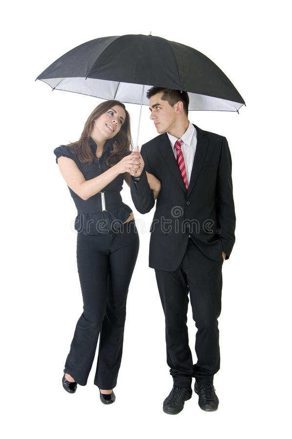 Camminata della pioggia fotografie stock