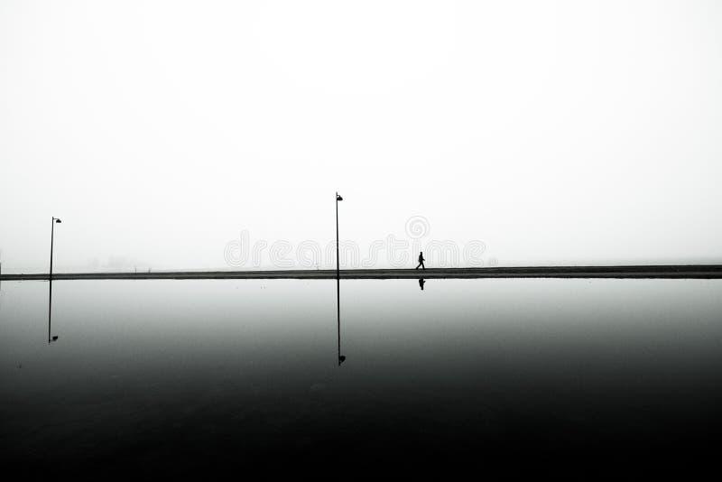 Camminata della spiaggia fotografie stock libere da diritti
