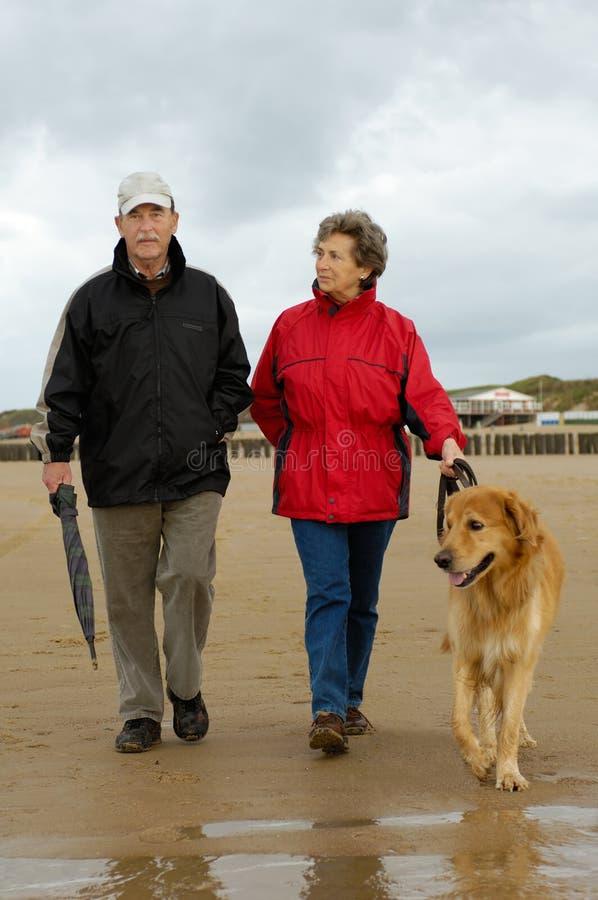 camminata della spiaggia fotografie stock