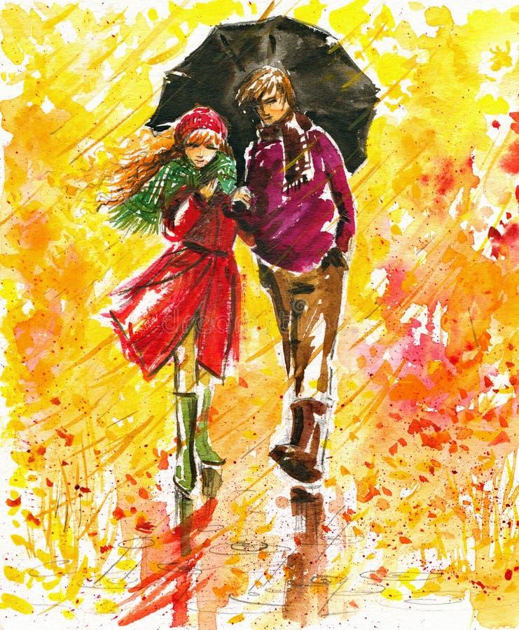 Camminata di autunno royalty illustrazione gratis