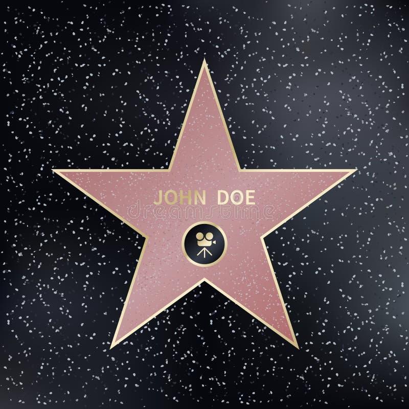 Camminata di Hollywood della stella di fama Illustrazione di vettore royalty illustrazione gratis