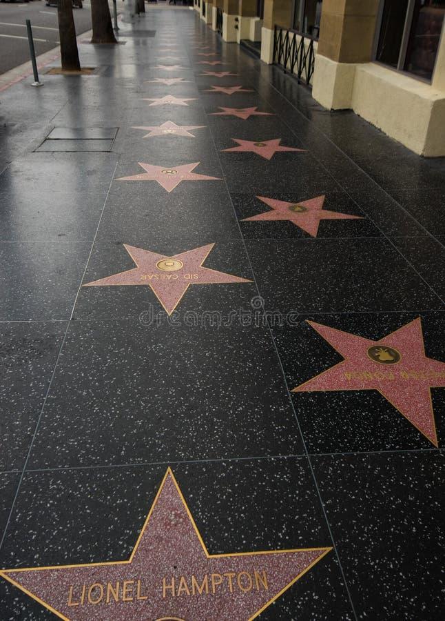Camminata di Hollywood delle stelle di fama fotografie stock