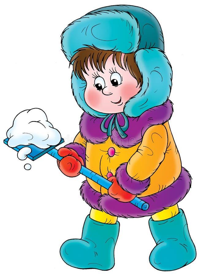 Camminata di inverno royalty illustrazione gratis