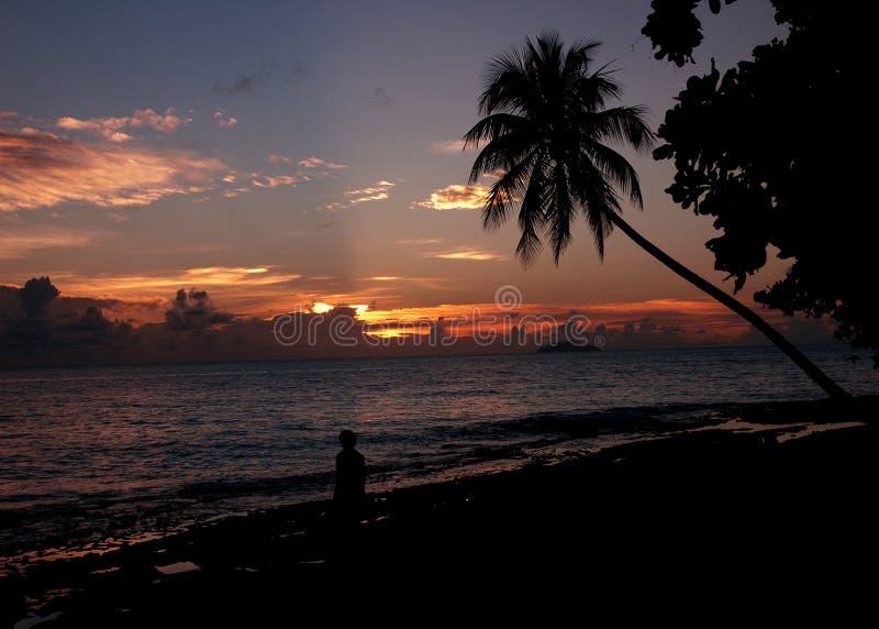Camminata di tramonto immagine stock libera da diritti