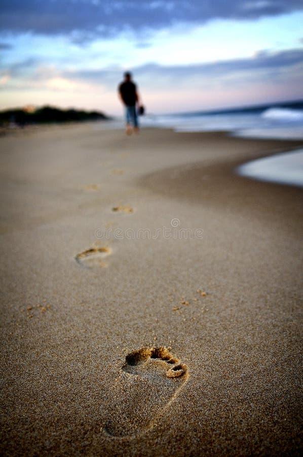 Camminata sola fotografia stock
