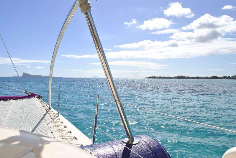 Camminata sull'yacht immagini stock