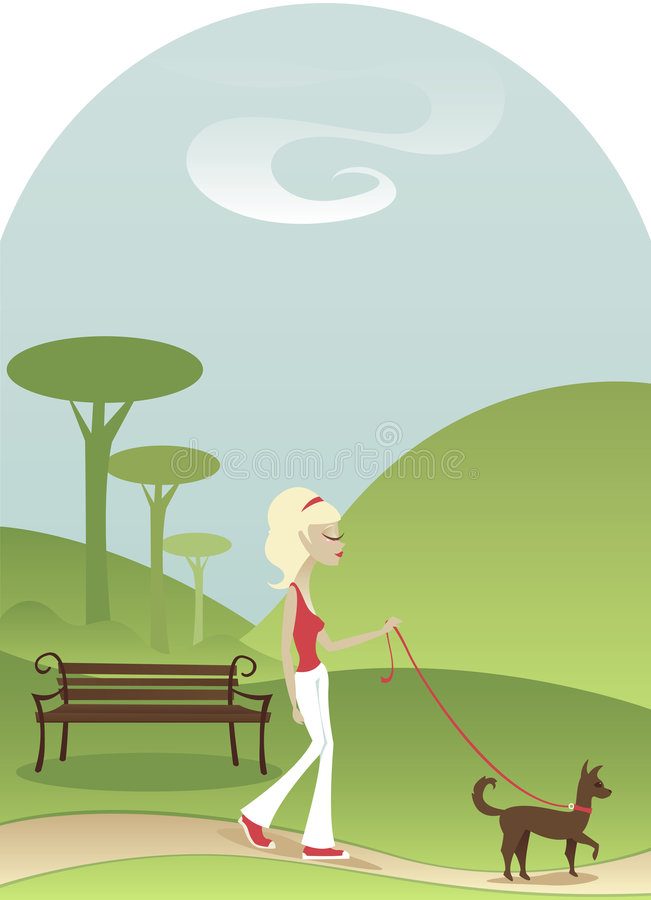 Camminata tranquilla illustrazione vettoriale