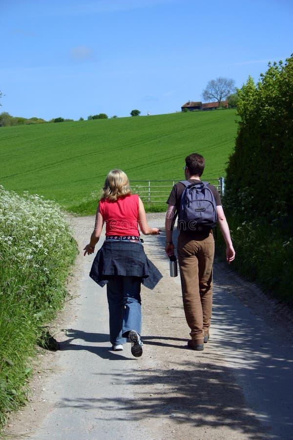 Camminatori fuori per uno stroll fotografia stock libera da diritti