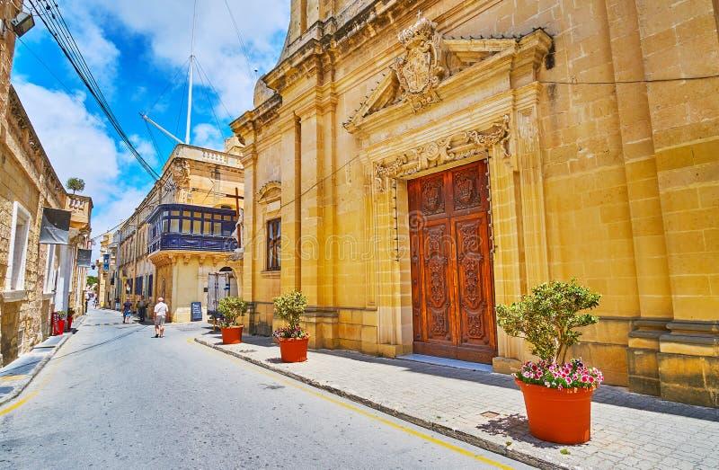 Cammini la via di St Paul, Rabat, Malta fotografia stock