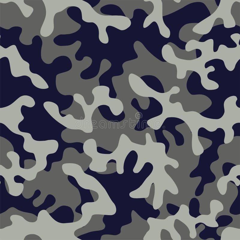 Camo στρατιωτικό στο μπλε γκρίζο χρώμα απεικόνιση αποθεμάτων