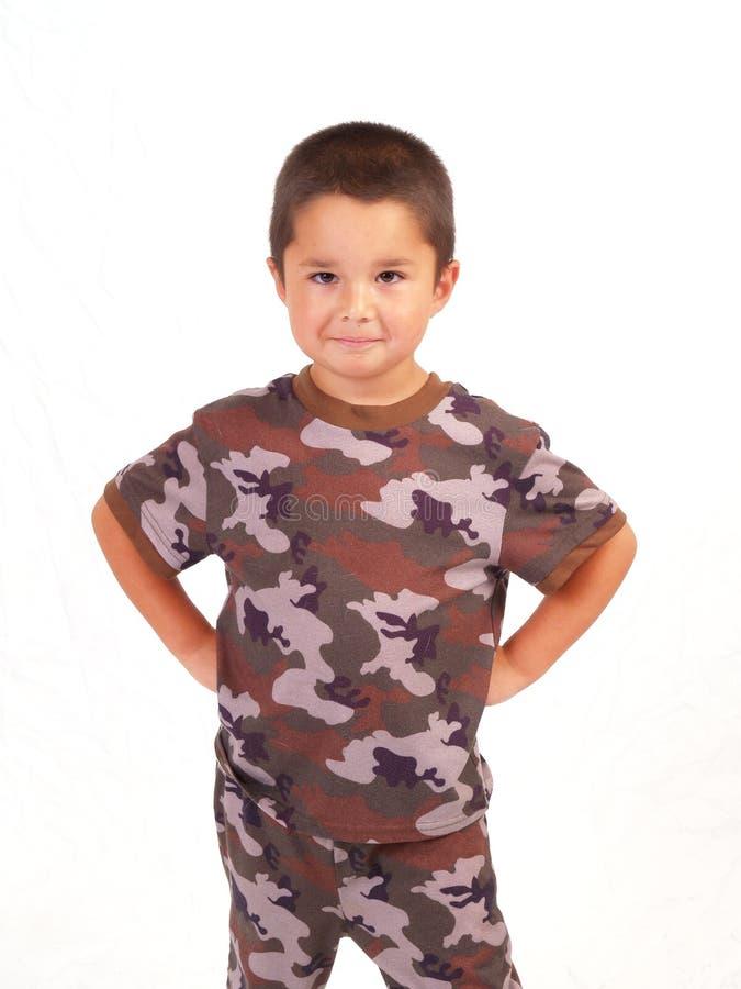 camo мальчика стоковое изображение rf